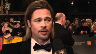 getlinkyoutube.com-Brad Pitt - Film Awards Red Carpet 2012