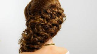 getlinkyoutube.com-Bridal prom hairstyle for long hair