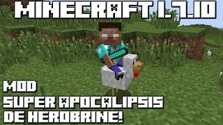 getlinkyoutube.com-Minecraft 1.7.10 MOD SUPER APOCALIPSIS DE HEROBRINE!
