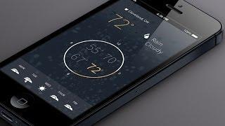 getlinkyoutube.com-Flat Mobile App Design in Photoshop CC - Weather App