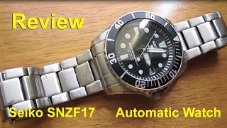 getlinkyoutube.com-Seiko SNZF17 Sea Urchin Automatic Watch - Review