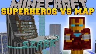 getlinkyoutube.com-SUPERHEROES UNLIMITED MOD VS AVENGERS TOWER - Minecraft Mods Vs Maps (REPULSER & TNT!)