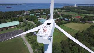 getlinkyoutube.com-Drone Captures Man Sunbathing on Wind Turbine