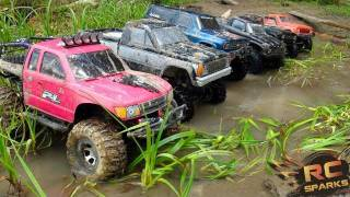 getlinkyoutube.com-RC ADVENTURES -  6 Scale RC 4x4 Trucks in MUD, DIRT & a Forest! Group Trail Gathering  (GTG)