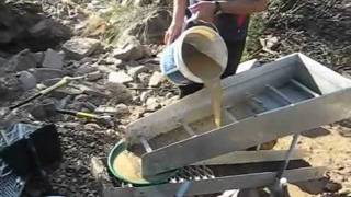 getlinkyoutube.com-Gold panning and High-banking at Shaolhaven River, NSW, Australia