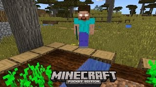 getlinkyoutube.com-I FOUND HEROBRINE !! (AGAIN) Minecraft Pocket Edition 0.13.0 - 0.14.0 HORROR FILM!