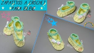getlinkyoutube.com-ZAPATITOS  TEJIDOS A CROCHET PARA BEBÉ