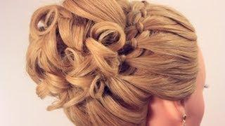 getlinkyoutube.com-Вечерняя прическа на длинные волосы. Wedding prom hairstyle