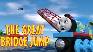 getlinkyoutube.com-TOMICA Thomas & Friends Short 45: The Great Bridge Jump (WOODEN RAILWAY VERSION)