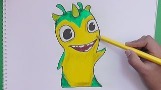 getlinkyoutube.com-Como dibujar y pintar a Slugterra Geoshard (Bajoterra) - How to draw and paint Slugterra Geoshard