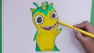 Como dibujar y pintar a Slugterra Geoshard (Bajoterra) - How to draw and paint Slugterra Geoshard