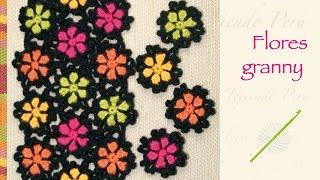 getlinkyoutube.com-Flor granny tejida a crochet