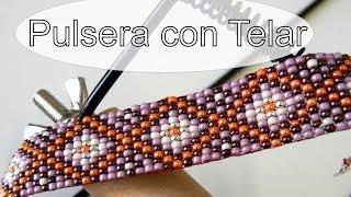 getlinkyoutube.com-Abalorios Manualidades - Pulsera de Miyuki con Telar