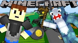 getlinkyoutube.com-Minecraft Adventure - Sharky and Scuba Steve - CRAZY FARM VISIT!!