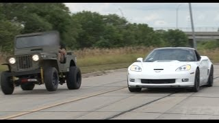 getlinkyoutube.com-ZR-1 Corvette vs LSx Willy's Jeep
