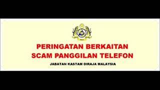 Scammer Menyamar pegawai Kastam 2018 (1)