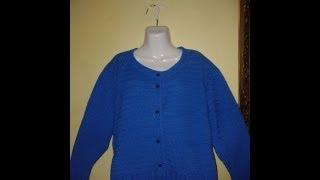 getlinkyoutube.com-Cómo tejer un suéter para dama a gancho o crochet, 1a. Parte