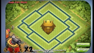 getlinkyoutube.com-Clash of Clans - Best Th 10 Trophy Base (Titan League)