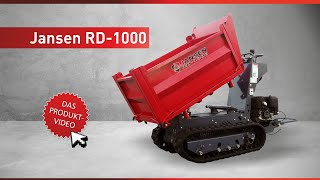 getlinkyoutube.com-Raupendumper Jansen RD-1000, Kettendumper, Minidumper, Dumper