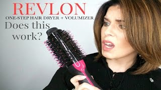 getlinkyoutube.com-Revlon Oval One-Step Hair Dryer + Volumizer   DOES IT WORK?   @girlythingsby_e