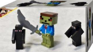 getlinkyoutube.com-sy 마인크래프트 녹색얼굴 스킨과 앤더맨 미니피규어 레고 짝퉁 리뷰 myspace lego knockoff minecraft steve skin enderman mini