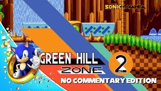 Sonic Mania - Green Hill Zone Act 2 Raw Gameplay