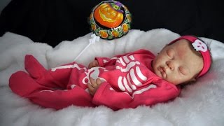 getlinkyoutube.com-Reborn baby Estrella, Halloween!!! by Chiquitines Reborns
