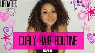getlinkyoutube.com-Curly Hair Routine 2016   Big Fluffy Curls