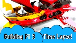 TL Pt 3 Mega Bloks Power Rangers Super Mega Force Sky Ship Showdown MegaZord Red Ranger Troy Burrows