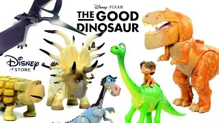 getlinkyoutube.com-Disney Pixar's The Good Dinosaur Disney Store Exclusive Action Figures