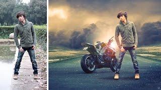 Changeing background and soft light effect | photoshop manipulation  tutorial