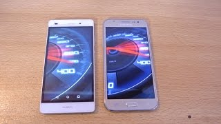 Samsung Galaxy J5 vs Huawei P8 lite - Speed Test HD