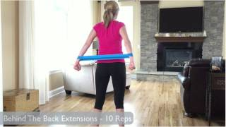 getlinkyoutube.com-Resistance Band Loop Exercises - Upper Body Workout