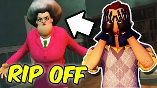 HELLO NEIGHBOR BECOMES A TEACHER! | Horrible Hello Neighbor Rip off Games