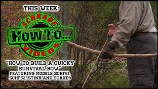 getlinkyoutube.com-DIY Project - How to Make a Fun Survival Bow from a Tree in the Woods