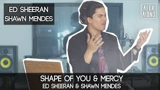 getlinkyoutube.com-Shape of You by Ed Sheeran and Mercy by Shawn Mendes | Alex Aiono Cover