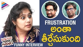 FRUSTRATED WOMAN Interviews Kiss Kiss Bang Bang Movie Team   #KKBB Movie   2017 Telugu Movie