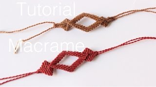 getlinkyoutube.com-pulsera macrame con rombos | friendship bracelet