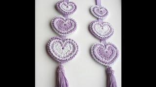getlinkyoutube.com-Hanging 'Hippy Hearts' Decoration - Crochet Tutorial