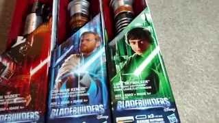 getlinkyoutube.com-Star Wars Bladebuilders: Luke Skywalker/Darth Vader/Obi-Wan Kenobi Electronic Lightsaber Unboxing