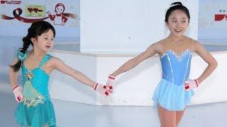 getlinkyoutube.com-本田望結、妹・紗来とアナ雪「雪だるまつくろう」で初滑り!「東京スカイツリータウン アイススケート」1 #Miyu Honda #Ice skater