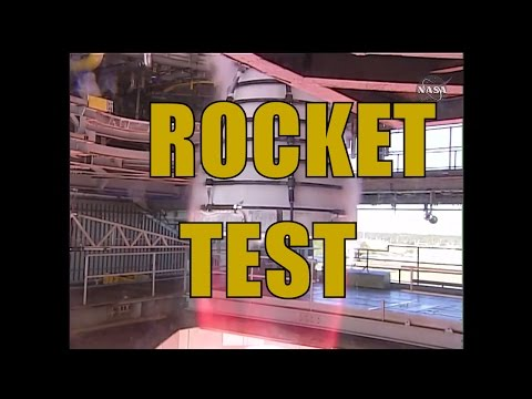 Rockets and Rainbows: NASA's RS 25 engine test: NASA SLS - Space Launch System Rocket Test