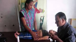 getlinkyoutube.com-Exercise to improve neck holding & trunk control in cerebral palsy affected children