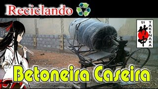 getlinkyoutube.com-Betoneira Caseira - Concrete Mixer Homemade - Brasil, Cotia, Caucaia do Alto - By Takenaka