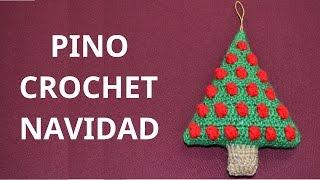 getlinkyoutube.com-Pino Navidad en tejido crochet tutorial paso a paso.