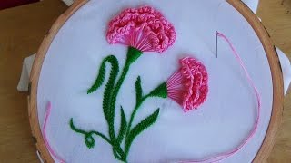 getlinkyoutube.com-Hand Embroidery: Carnation flower