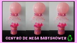 getlinkyoutube.com-CENTRO DE MESA BABYSHOWER/BAUTIZO CON BOTELLAS FACIL Y ECONOMICO/ decoração para cha de bebe
