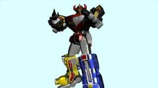 getlinkyoutube.com-3ds max model 3D ROBOT MEGAZORD DAIZYUJIN animation test - JUMP
