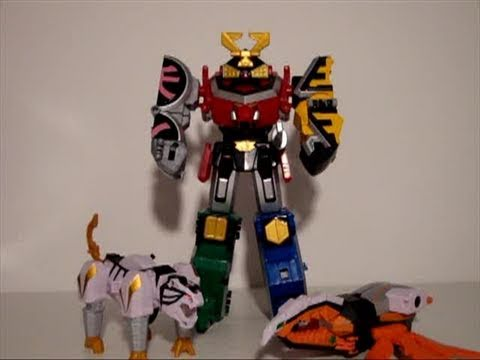 Power Rangers Samurai Megazord, Beetlezord and Tigerzord Review