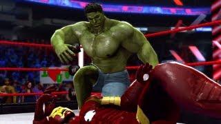 getlinkyoutube.com-WWE '13 - Incredible Hulk Vs. Ironman